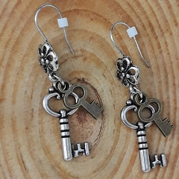 Fairy Tale Jewelry Jewelry - Keys to the Fairy World - dangle earrings